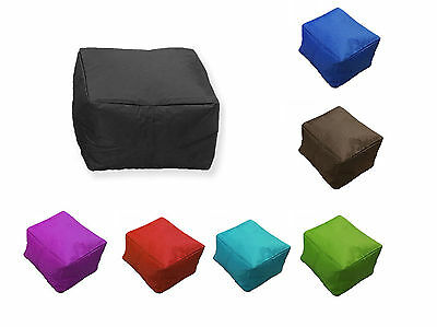 Beanbag Pouffe Chair Footstool in/outdoor Garden Seat waterproof 45cm COVER ONLY