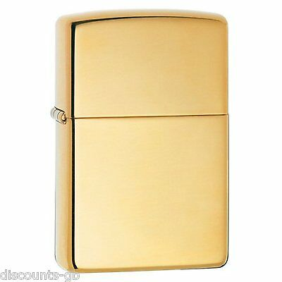 Zippo High Polished Brass ARMOR (Thick) lighter -Petrol Windproof + Gift Box 169