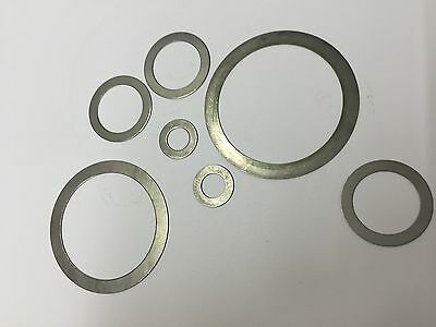 Shim Ring washers 0.3mm thick Steel din1624 3mm to 30mm ID m3 to m30 Various ODs
