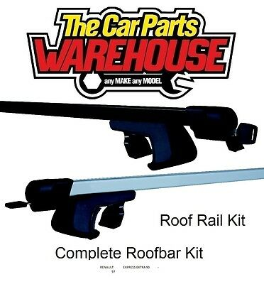 Full Roof Rack Bar Kit SUM520 Mountney WITH RAILS RENAULT EXPRESS EXTRA 90 - 97