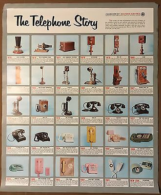 Vintage 1960's The Telephone Story Poster by Western Electric
