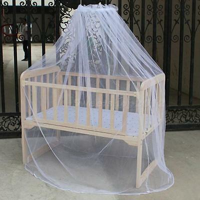 Nursery Baby Cot Bed Toddler Bed or Crib Canopy Mosquito Net White SWTG