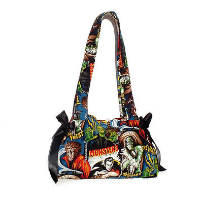 Frankenstein Wolfman Dracula Purse Mummy Handbag Hollywood Monsters