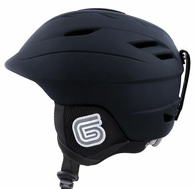 New Grayne MTN Ski and Snowboard Helmet Black w/Audio Ready Liner....Ride On