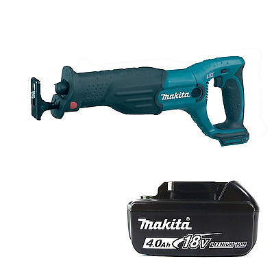 Makita 18V Lxt Bjr182Z Reciprocating Saw & Bl1840 Battery Fuel Cell Indicator