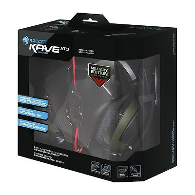 NEW ROCCAT Kave XTD Stereo PC Gaming Headset Military Edition - Camo Charge