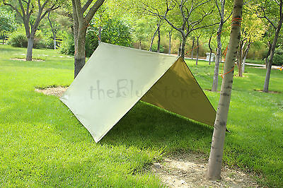 Rain Tarp Tent Shelter in 10FT x 10FT for Canopy Double Hammock Outdoor Camping