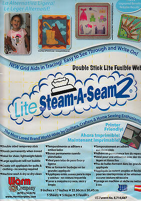 Lite Steam-A-Seam 2 - fusible web for applique - printer friendly