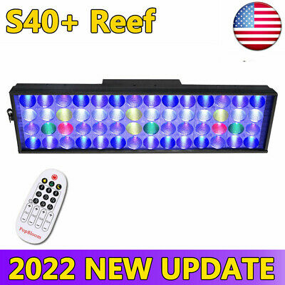 Timer Control 165W Dimmable LED Aquarium Light Full Spectrum Reef Coral, Arm Kit