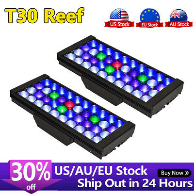 "2 x 165W Marine Aquarium LED Reef Tank Lighting 36""- 48"" Coral Saltwater SPS LPS"