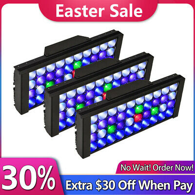 3* 165W LED Aquarium Light for SPS/LPS Coral Reef Marine Full Spectrum Dimmable
