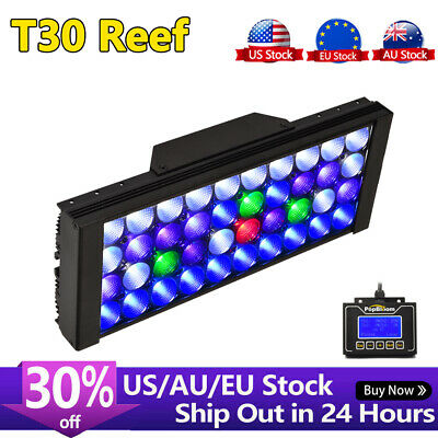 WiFi Timer Control LED Aquarium Light Dimmable Full Spectrum Coral Reef Lighting