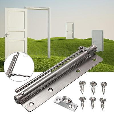 Stainless Steel Adjustable Surface Mounted Auto Closing Door Closer Hinge New