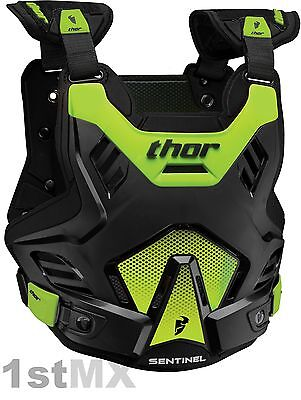 2017 THOR Sentinel GP Body Armour Chest Protector Motocross Adult Green XL/XXL