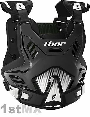 2017 THOR Sentinel GP Body Armour Chest Protector Motocross Adult Black M/L