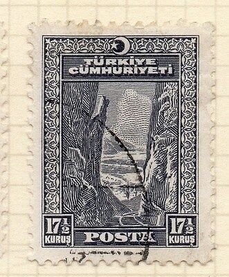 Turkey 1930 Early Issue Fine Used 17.5k. 066044