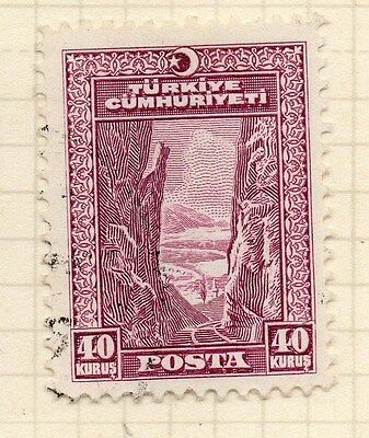 Turkey 1930 Early Issue Fine Used 40k. 066048