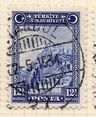 Turkey 1930 Early Issue Fine Used 12.5k. 066042