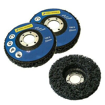 "3 Pack Paint Rust Remover Abrasive Poly Wheel Disc - 115Mm 41/2"" Angle Grinders"