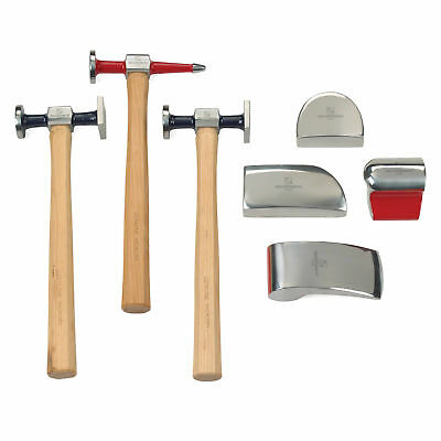 GearWrench 82302 7 Piece Body Hammer Set Forged Polish Wooden Handles Hand Tool