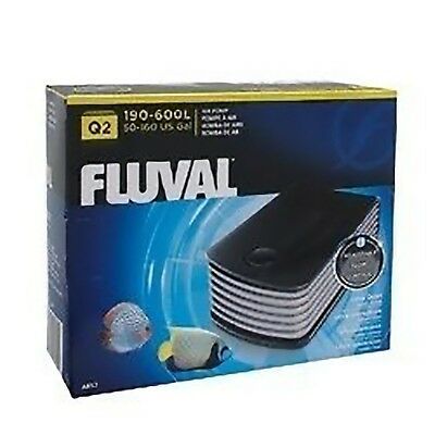 Fluval Q2 Air Pump For 600 Litre Aquariums Super Quiet Adjustable Outlet