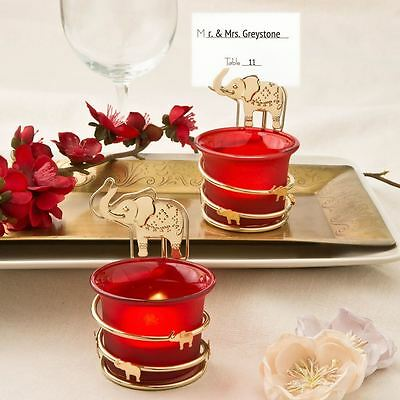 6 X India Themed Candle Votive Place Card/Photo Holder Wedding & Party Favour