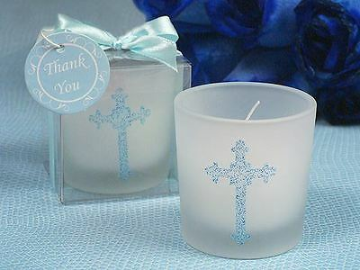 6 X Blessed Events Cross Candle Holder Baptism Christening Confirmation Favors
