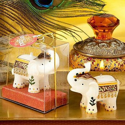 Set of 6 Good Fortune Elephant Candle Wedding & Party Favors