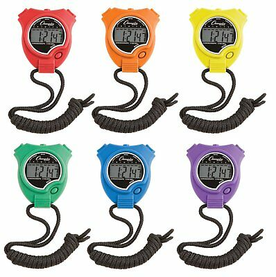 Champion Sports Timer Stopwatch Set of 6 Assorted Colors Track Swimming Coaching