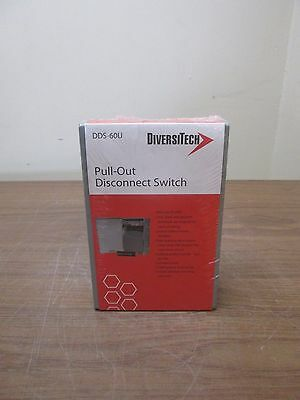 New Sealed Diversitech DDS-60U Pull-Out Disconnect Switch 60 amp FREE SHIPPING