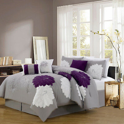 11 Piece Provence Embroidered Bed in a Bag Set