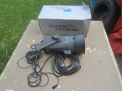 Interfit Colorflash 300I  In Box Cables Instructions Hood Is Dented As Is