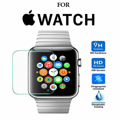 Tempered Glass Premium Film Screen Protector Apple Watch 1 2 3 4 iWatch 42mm