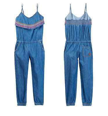 Roxy La Isla Romper Denim Outfit Big Girls NEW Tags SUPER CUTE Size 10