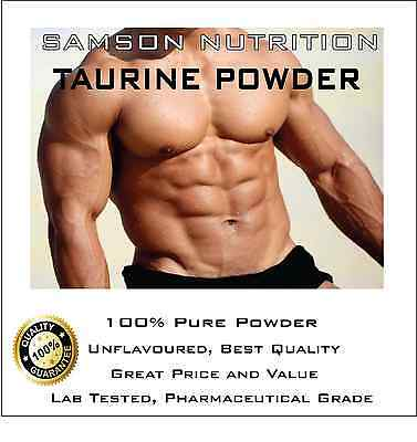 TAURINE 5kg UNFLAVOURED PHARMACEUTICAL GRADE PREMIUM QUALITY BEST AVAILABLE