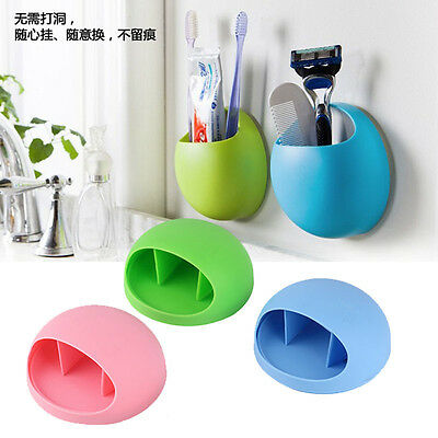 New Wall Suction Cup Toothbrush Rack Toothpaste Holder Stand Storage Organizer