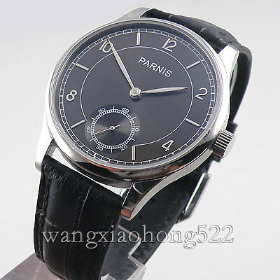 44mm parnis gray dial Special @6 Hand Winding mens 6498 movement Watch P013A