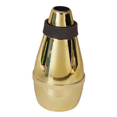 Gold Tone Trumpet Straight Silencer Practice Cup Mute For Beginner Portable