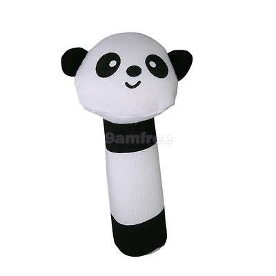 Cute Panda Squeaky Baby infant Squeaker Rattle Soft plush Toy gift white black