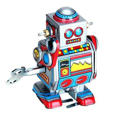 Classic Wind Up clockwork Mechanical Walking Robot Toy