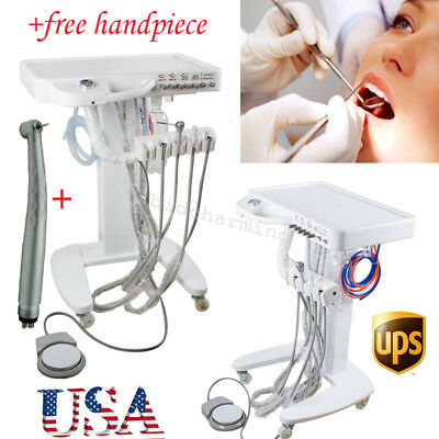 USA Dental Delivery Unit Mobile handpiece Cart Standard Portable 4 hole warranty