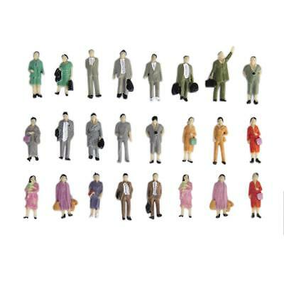 24pcs Painted Standing People Figures Train Railway Diorama Scenery HO Scale
