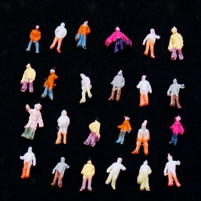 100 Painted Model People Figures Train Railway Diorama Wargames Scenery Z Scale