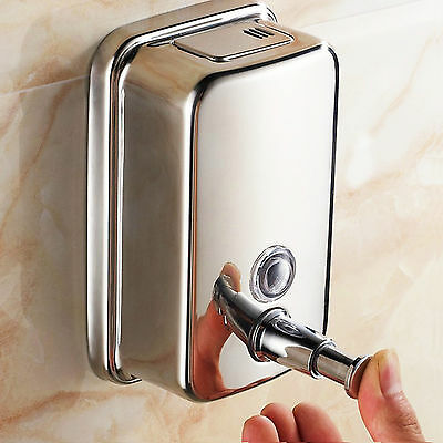 Soap/shampoo Dispenser Pump Action Wall Mounted Stainles Steel Durable Uk