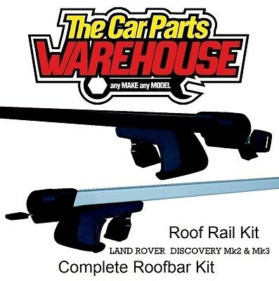 Full Roof Rack Bar Kit SUM521 Mountney WITH RAILS LAND ROVER DISCOVERY Mk2 & Mk3