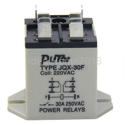 JQX-30F 30A Power Relay 220V AC 8 Pins Plug In Type Motor Control