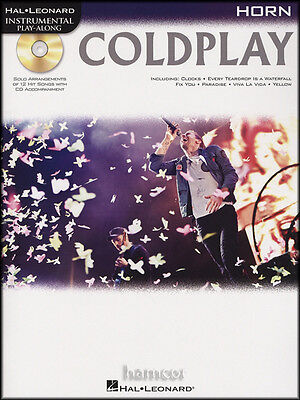 Coldplay French Horn Instrumental Play-Along Music Book with Backing Tracks CD