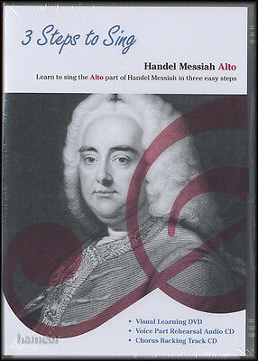 3 Steps To Sing Handel Messiah Alto DVD/2CD Set Learn to Sing the Alto Part