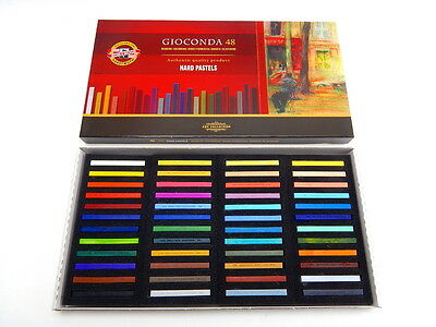 Smooth Artist Oil Hard PASTEL Set KOH I NOOR Gioconda 8116 Drawing Art 12-48 pcs