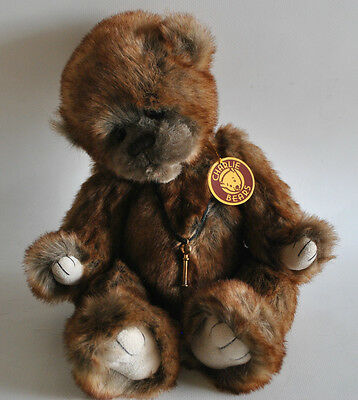 """Charlie Bears Dibley Plush Bear with Tags 2013 Collection, Retired 15"""" Exc Cond"""